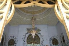 Deur Sjeikh Zajed moskee Abu Dhabi met kinderen