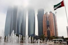 Emirates towers Abu Dhabi met kinderen