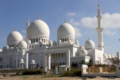 Sjeikh Zajed moskee Abu Dhabi met kinderen