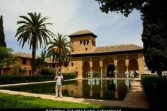 Alhambra prachtige Islamitische schoonheid Andalusië met kinderen