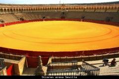 Arena stierengevechten Sevilla Andalusië met kinderen