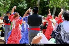 Feestje in Granada stad Andalusië met kinderen