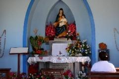 Kleine kapel Alto Vista Aruba met kinderen