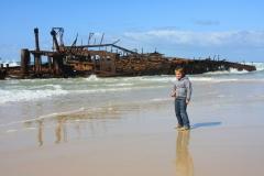 Australië Fraser Island schipbreuk