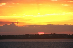Australië awesome zonsondergang