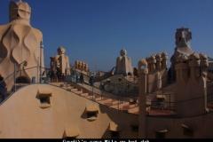 Casa Mila op het dak Barcelona met kinderen