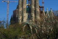 Gaudi's familia Sagrada Barcelona met kinderen