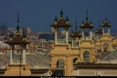 Koninklijke torentjes Barcelona met kinderen