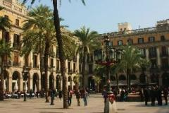 Placa Reial Barcelona met kinderen
