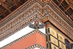 Detail dzong Thimphu
