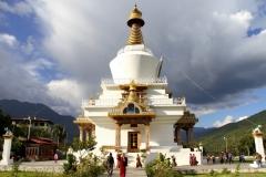 Tempel Bhutan met kinderen