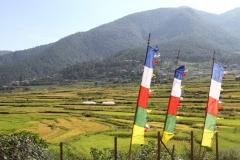 Vallei Bhutan met kinderen