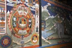 Thangka Punakha dzong Bhutan met kinderen