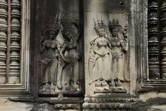Apsara tekeningen Angkor Wat Cambodja