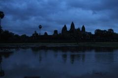 Cambodja Angkor Wat vroeg in de ochtend
