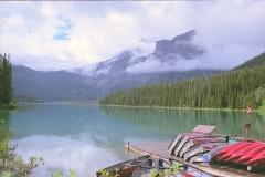 Emerald lake Canada met kinderen