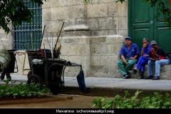 Havanna schoonmaakploeg Cuba met kinderen