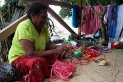 Fiji met kinderen handicraft