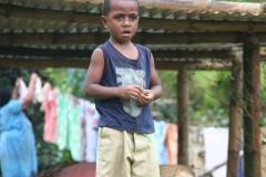 Fiji met kinderen jongen