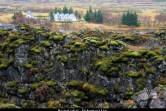 Beautiful thingvellir IJsland met kinderen