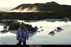 Blue lagoon omgeving IJsland met kinderen