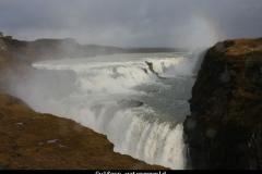 Gulfoss watergeweld IJsland met kinderen