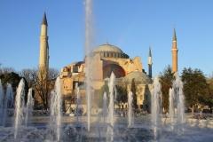 Hagia Sophia Istanbul met kinderen