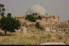 Amman op de citadel Jordanië met kinderen
