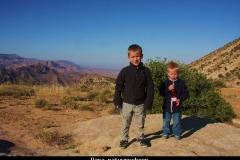 Dana natuurschoon rummana campsite Jordanië met kinderen