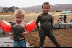 Dode zee speeltuin Jordanië met kinderen