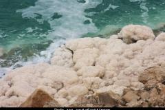 Dode zee zoutafzettingen Jordanië met kinderen