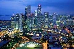Uitzicht over Kuala Lumpur met kinderen