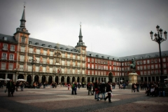 Plaza Mayor Madrid met kinderen