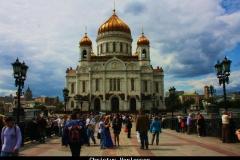 Christus Verlosser Moskou met kinderen