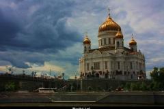 Machtige verlosser kathedraal Moskou met kinderen