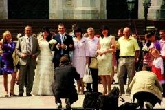 Russische bruiloft Moskou met kinderen