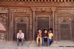 Bhaktapur Nepal met kinderen