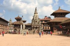 Plein Kathmandu met kinderen