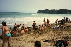 Hot beach Coromandel Nieuw Zeeland met kinderen