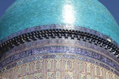 Biby Khanum moskee Samarkand Oezbekistan met kinderen
