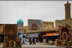 Buchara zijdestad Oezbekistan met kinderen