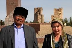 Echtpaar Shahrisabz Oezbekistan met kinderen