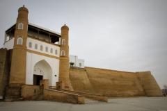 Fort Buchara Oezbekistan met kinderen