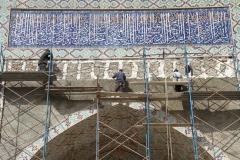 Herstel monumenten Oezbekistan met kinderen