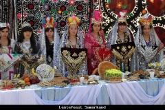 Lentefeest Samarkand Oezbekistan met kinderen