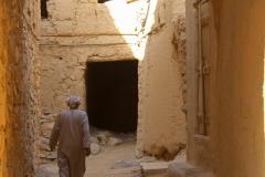 Al Hamra Oman lemen dorp Oman met kinderen