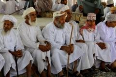 Al Hamra geitenmarkt Oman met kinderen