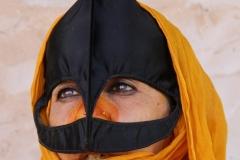 Bedoeien vrouw Oman met kinderen