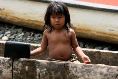 Aaah wat een lief indianenmeisje Panama met kinderen