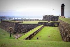 Galle fort Sri Lanka met kinderen